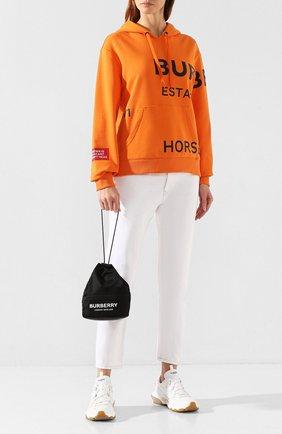 Женская сумка phoebe BURBERRY черного цвета, арт. 8015045 | Фото 2 (Материал: Текстиль; Размер: small; Сумки-технические: Сумки через плечо)