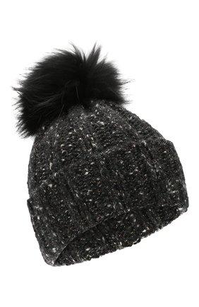 Женский кашемировая шапка INVERNI темно-серого цвета, арт. 4618CM | Фото 1