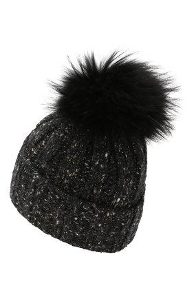 Женский кашемировая шапка INVERNI темно-серого цвета, арт. 4618CM | Фото 2
