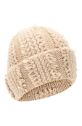 Женский кашемировая шапка INVERNI светло-бежевого цвета, арт. 4627CM | Фото 1