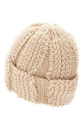 Женский кашемировая шапка INVERNI светло-бежевого цвета, арт. 4627CM | Фото 2