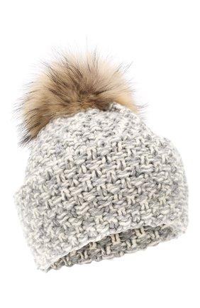 Женский шапка из смеси шерсти и вискозы INVERNI светло-серого цвета, арт. 4634CM | Фото 1
