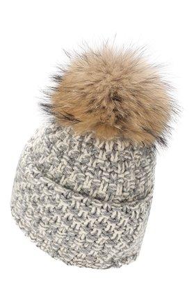 Женский шапка из смеси шерсти и вискозы INVERNI светло-серого цвета, арт. 4634CM | Фото 2