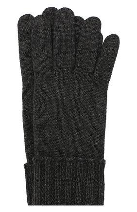 Женские перчатки из смеси шерсти и вискозы INVERNI темно-серого цвета, арт. 4774GU | Фото 1