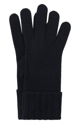 Женские перчатки из смеси шерсти и вискозы INVERNI темно-синего цвета, арт. 4774GU | Фото 1