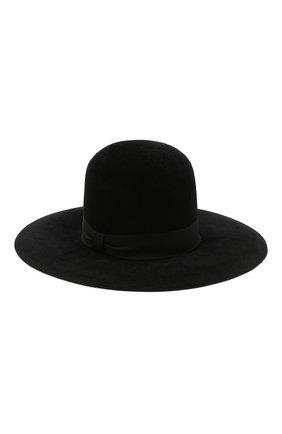 Женская фетровая шляпа DOLCE & GABBANA черного цвета, арт. FH471A/GDQ80   Фото 1