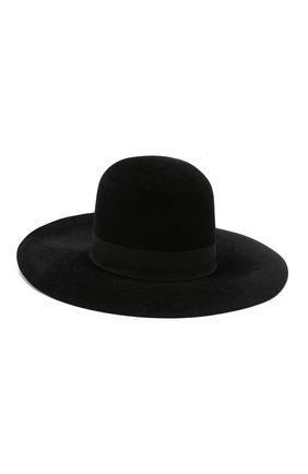Женская фетровая шляпа DOLCE & GABBANA черного цвета, арт. FH471A/GDQ80   Фото 2