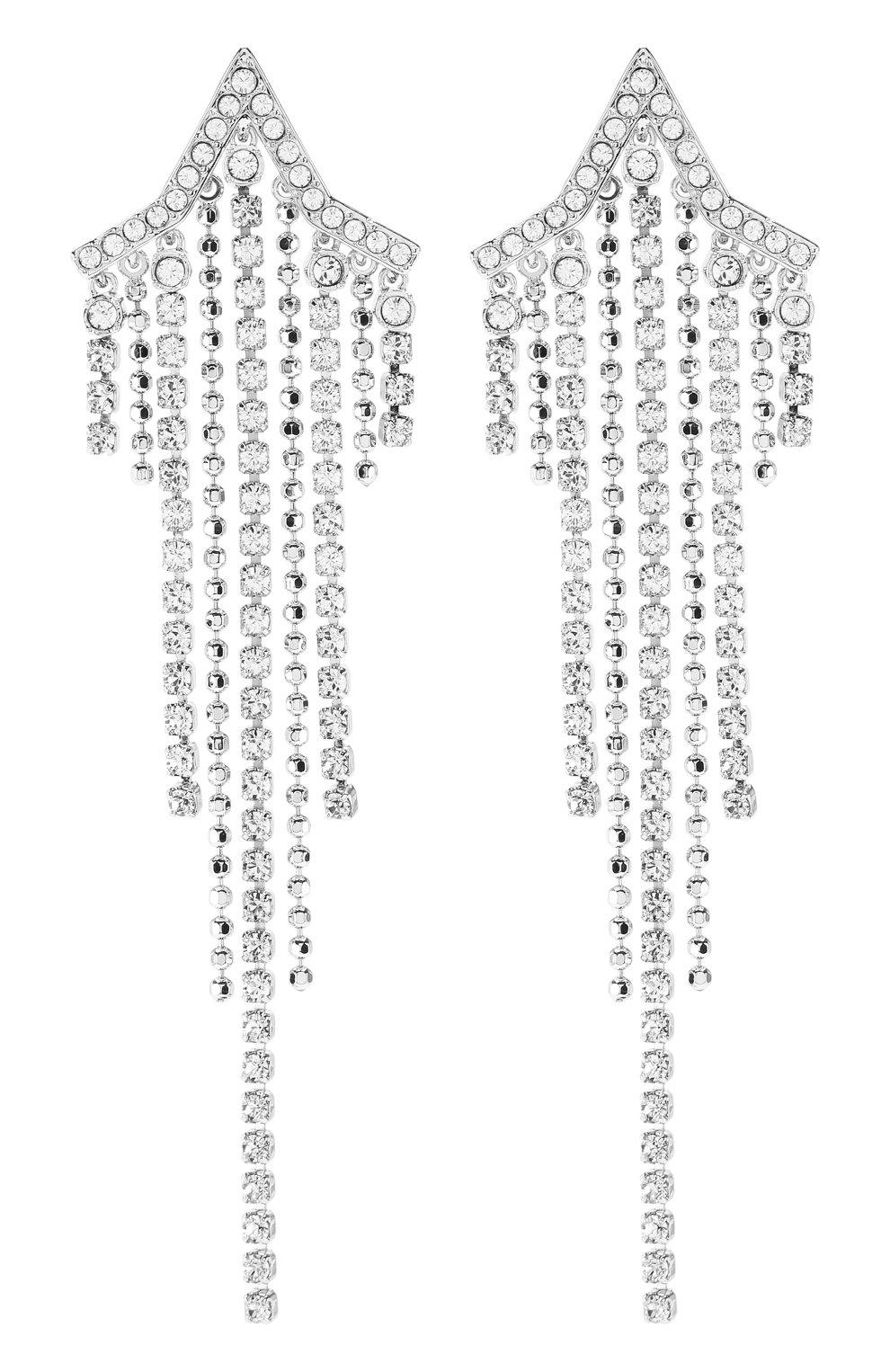 Женские серьги fit star SWAROVSKI серебряного цвета, арт. 5492758 | Фото 1