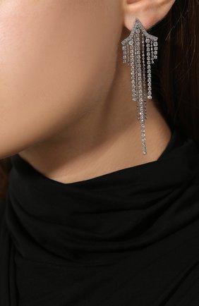 Женские серьги fit star SWAROVSKI серебряного цвета, арт. 5492758 | Фото 2
