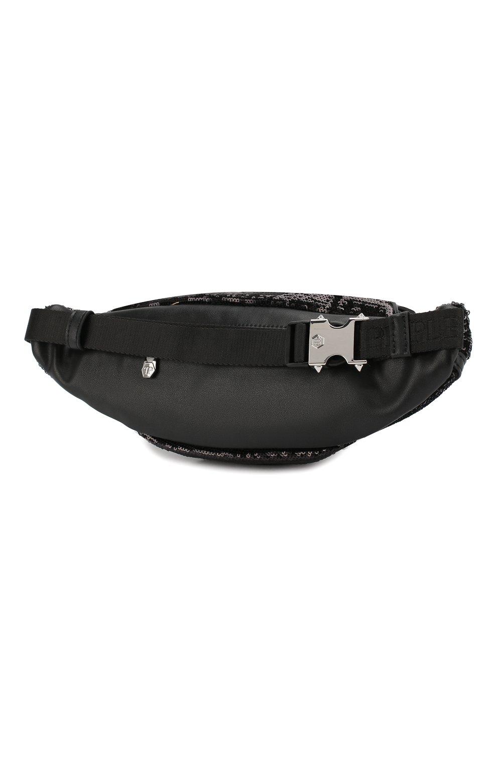 Детская поясная сумка PHILIPP PLEIN черного цвета, арт. GBA0116   Фото 2