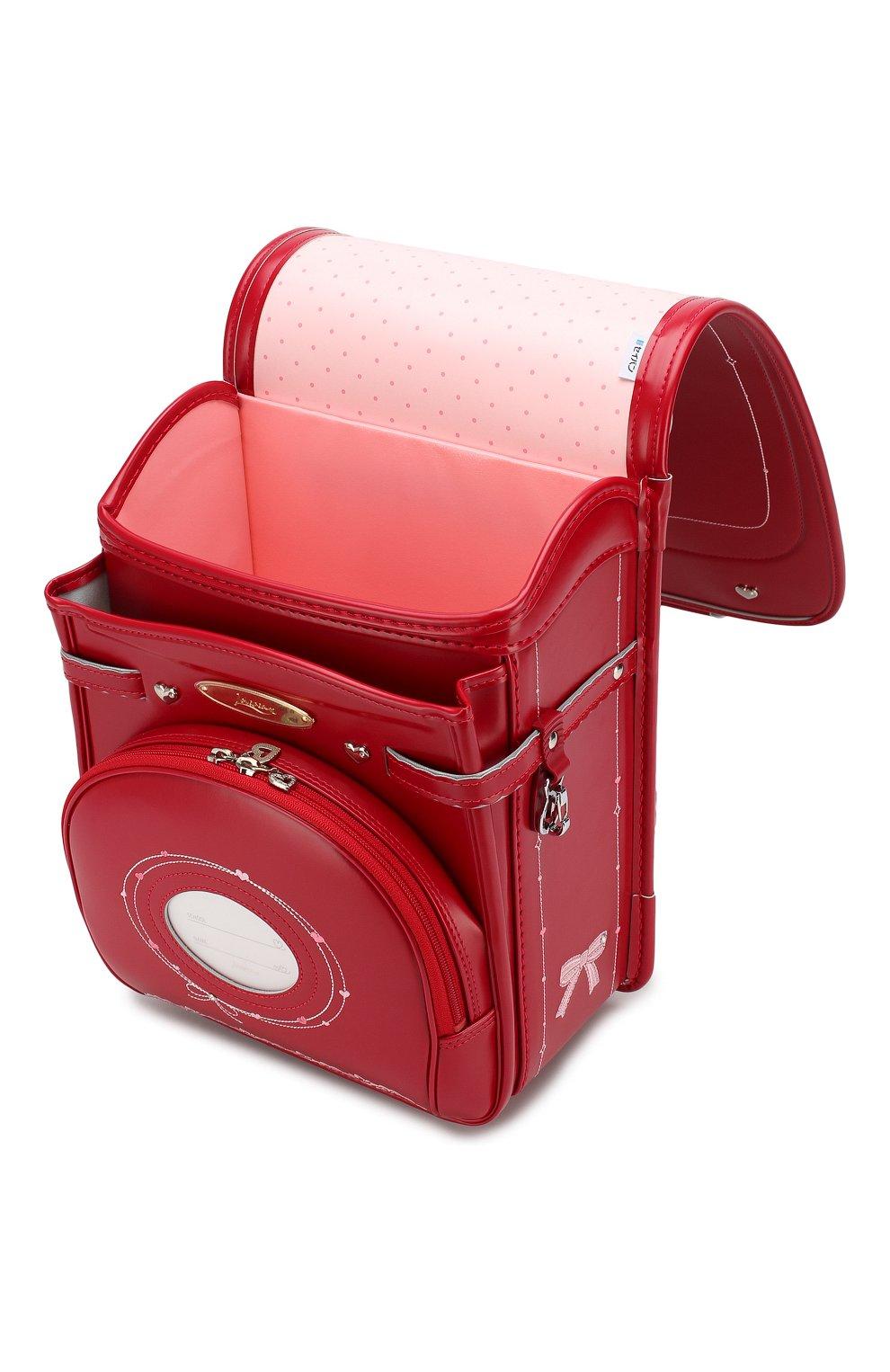 Детская ранец randoseru SEIBAN красного цвета, арт. LV16K2525   Фото 3