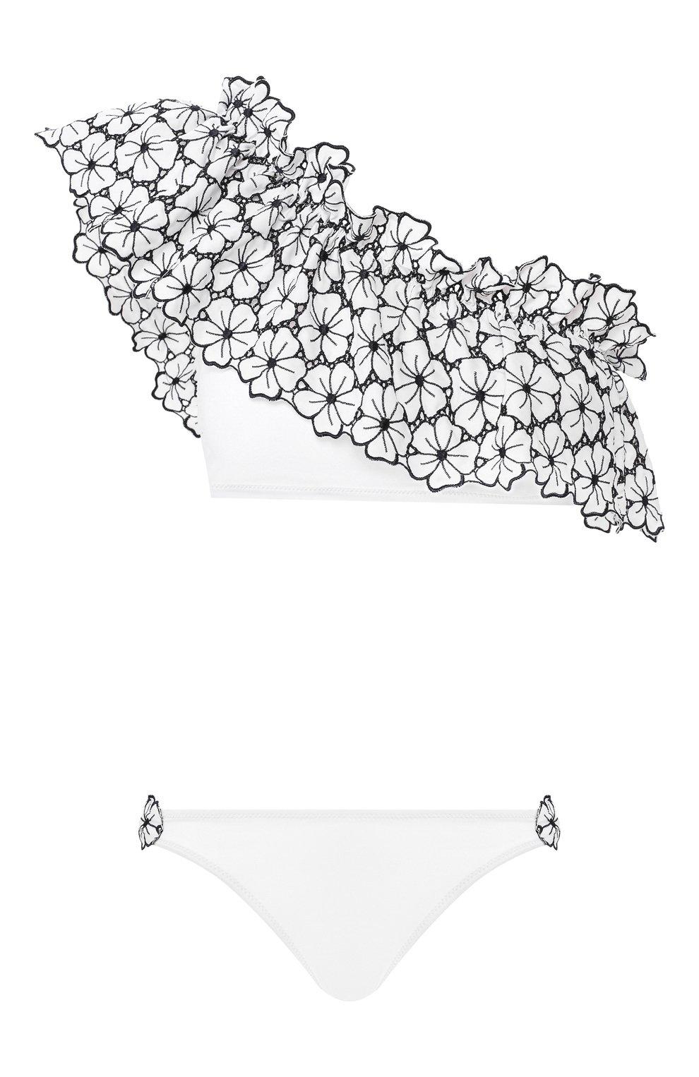 Женский раздельный купальник I.D. SARRIERI белого цвета, арт. BW65430 | Фото 1