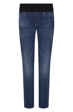 Женские джинсы с эластичным поясом PIETRO BRUNELLI синего цвета, арт. JPSC50/DE0089 | Фото 1