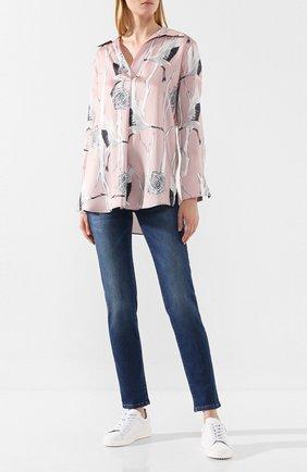 Женские джинсы с эластичным поясом PIETRO BRUNELLI синего цвета, арт. JPSC50/DE0089 | Фото 2