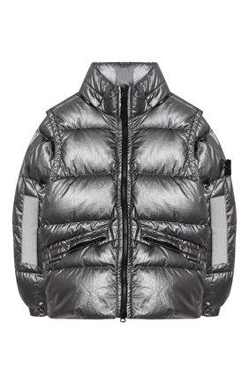 Пуховая куртка со съемными рукавами | Фото №1