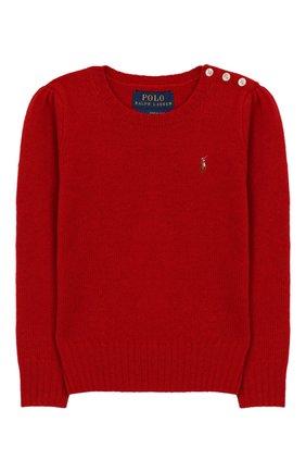 Детский пуловер из шерсти и кашемира POLO RALPH LAUREN красного цвета, арт. 311751019 | Фото 1