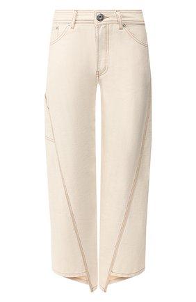 Женские укороченные джинсы LANVIN бежевого цвета, арт. RW-TR503U-4271-H19   Фото 1