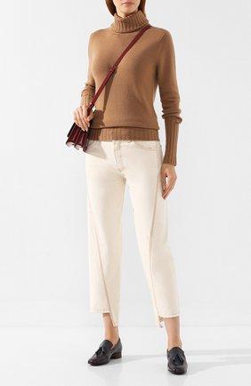 Женские укороченные джинсы LANVIN бежевого цвета, арт. RW-TR503U-4271-H19   Фото 2