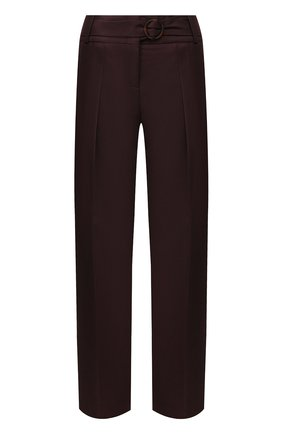 Женские брюки VICTORIA, VICTORIA BECKHAM бордового цвета, арт. TRVV 136B PAW19 W00L BLEND TAIL0RING | Фото 1