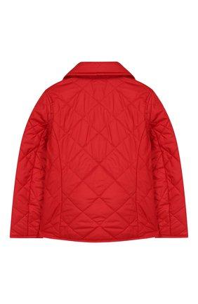 Детская двубортная куртка POLO RALPH LAUREN красного цвета, арт. 312767902 | Фото 2