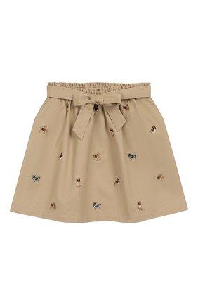 Хлопковая юбка с поясом | Фото №1