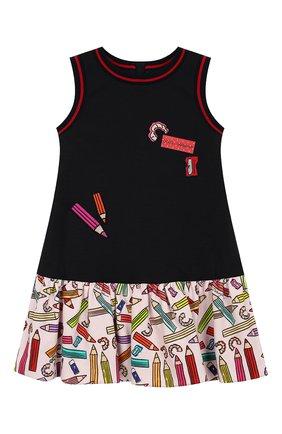 Детское платье DOLCE & GABBANA темно-синего цвета, арт. L5JDY2/G7TRY/2-6 | Фото 1