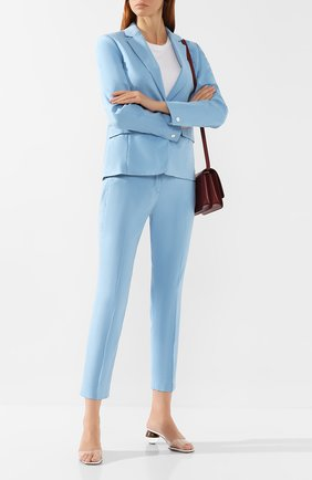 Женские льняные брюки RAG&BONE голубого цвета, арт. W29471635 | Фото 2