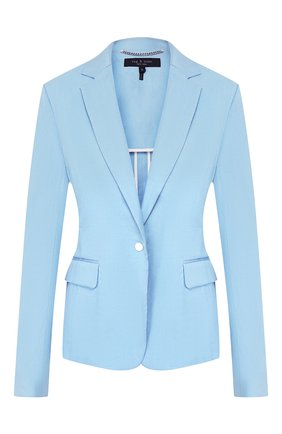 Женский льняной жакет RAG&BONE голубого цвета, арт. W29441535   Фото 1