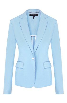 Женский льняной жакет RAG&BONE голубого цвета, арт. W29441535   Фото 2