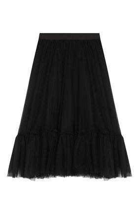 Детская многослойная юбка DESIGNERS CAT черного цвета, арт. 100000K01000324/10A-12A | Фото 1