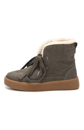 Детские кожаные ботинки DONSJE AMSTERDAM серого цвета, арт. 0816-BL005-00000 | Фото 2