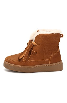 Детские кожаные ботинки DONSJE AMSTERDAM хаки цвета, арт. 0817-BL004-00000 | Фото 2