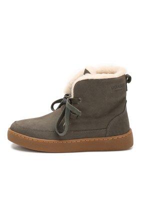 Детские кожаные ботинки DONSJE AMSTERDAM серого цвета, арт. 0817-BL005-00000 | Фото 2