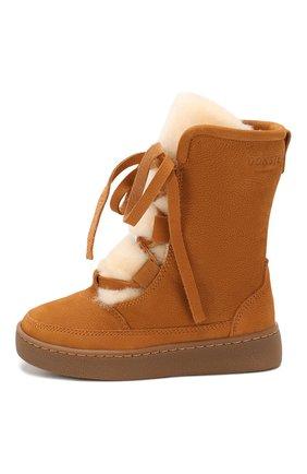 Детские кожаные ботинки DONSJE AMSTERDAM коричневого цвета, арт. 0814-BL003-00000 | Фото 2