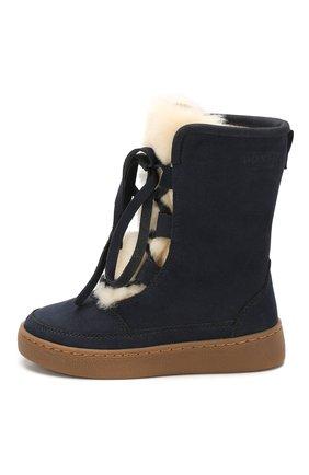 Детские кожаные ботинки DONSJE AMSTERDAM синего цвета, арт. 0814-BL002-00000 | Фото 2