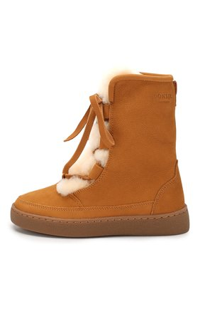 Детские кожаные ботинки DONSJE AMSTERDAM коричневого цвета, арт. 0815-BL003-00000 | Фото 2
