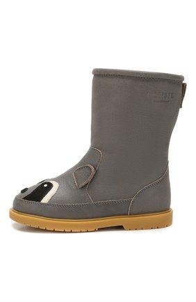 Детские кожаные сапоги DONSJE AMSTERDAM серого цвета, арт. 0808-ST009-CL002 | Фото 2