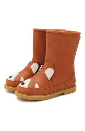 Детские кожаные сапоги DONSJE AMSTERDAM коричневого цвета, арт. 0808-ST055-CL012 | Фото 1