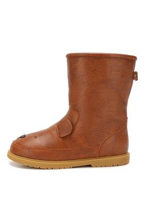 Детские кожаные сапоги DONSJE AMSTERDAM коричневого цвета, арт. 0809-ST018-CL004 | Фото 2