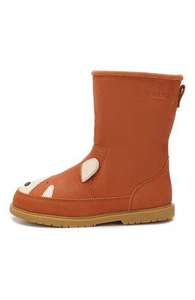 Детские кожаные сапоги DONSJE AMSTERDAM коричневого цвета, арт. 0809-ST055-CL012 | Фото 2
