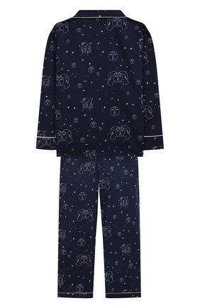 Детская хлопковая пижама LITTLE YOLKE синего цвета, арт. AW19-12C-TL-EC/1-8Y | Фото 2