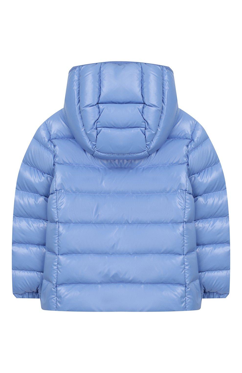Детского пуховая куртка с капюшоном POLO RALPH LAUREN голубого цвета, арт. 312748046 | Фото 2