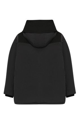 Детский пуховая куртка с капюшоном BURBERRY темно-серого цвета, арт. 8013468 | Фото 2