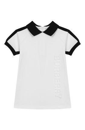 Женский хлопковое платье BURBERRY белого цвета, арт. 8011818 | Фото 1