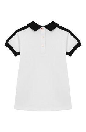 Женский хлопковое платье BURBERRY белого цвета, арт. 8011818 | Фото 2