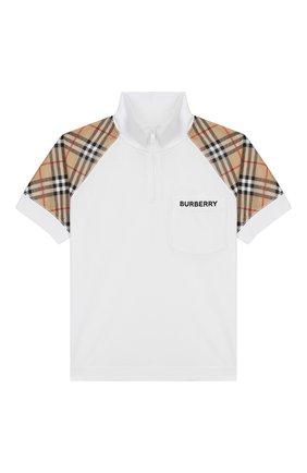 Хлопковая футболка с воротником-стойкой | Фото №1