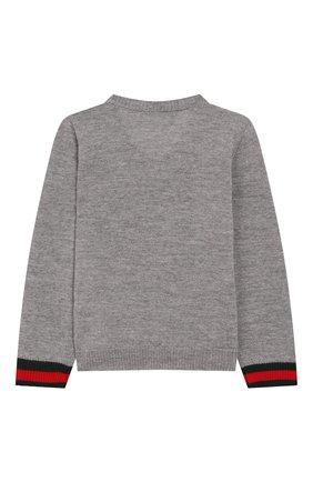 Детский шерстяной пуловер GUCCI серого цвета, арт. 418776/X1284 | Фото 2
