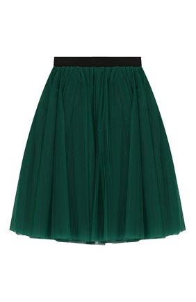 Детская юбка DOLCE & GABBANA зеленого цвета, арт. L53I44/HLMMR/2-6 | Фото 1