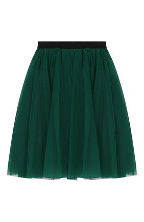 Детская юбка DOLCE & GABBANA зеленого цвета, арт. L53I44/HLMMR/2-6 | Фото 2