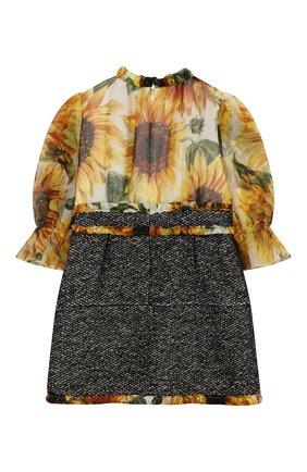 Детское платье из шелка и шерсти DOLCE & GABBANA разноцветного цвета, арт. L51DT5/G7TRD/2-6 | Фото 2
